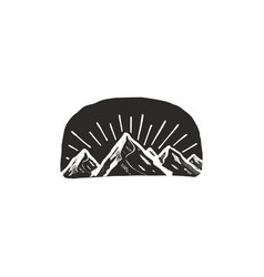 mountain symbol badge vector image vector image