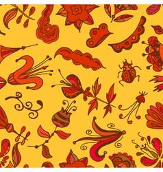 Multicolor seamless pattern Floral design vector