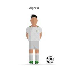 National football player Algeria soccer team vector image