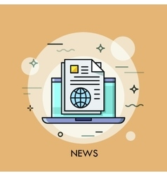 news line icon vector image