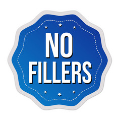 no fillers label or sticker vector image
