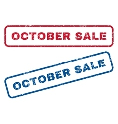 October sale rubber stamps vector