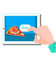 order fast food online concept vector image