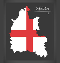 Oxfordshire map england uk with english national vector