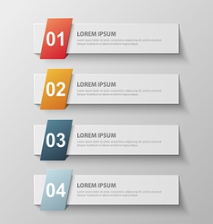 paper infographic10 vector image
