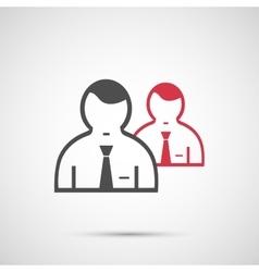 People design 2 man icon vector image