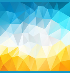 polygonal square background summer blue sky vector image