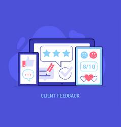 Positive customer feedback concept vector