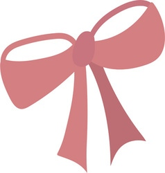 Pretty In Pink Bow vector