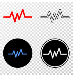 pulse signal eps icon with contour version vector image
