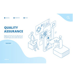 quality assurance concept assured result app vector image
