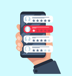 rating review bubble reviewers texting vector image