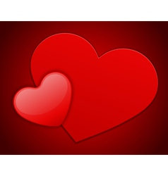 red heart on card vector image