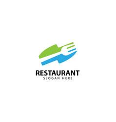 Restaurant logo design with forks and knives vector