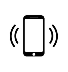 Ringing smartphone icon mobile phone call icon vector