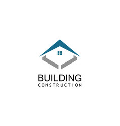 roof building construction logo vector image