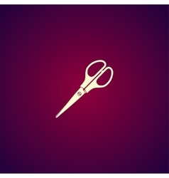 Scissors icon Flat design style vector image