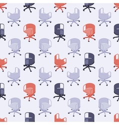 Seamless pattern with colored office chairs vector image