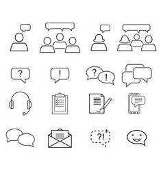 Set of customers relationship icons vector
