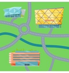 Shopping Center Concept Map vector