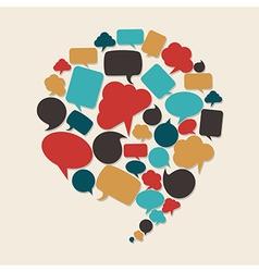 Social marketing campaign vector image