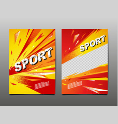 sport dynamic banner template design layout vector image