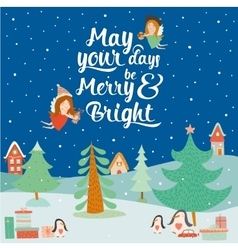 Stylish and bright Merry Christmas vector