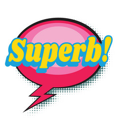Superb comic word vector