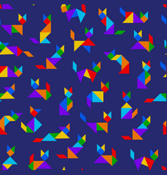 Tangram cats vector