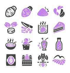 taro icon vector image