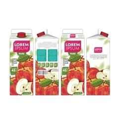 Template Packaging Design Apple Juice vector