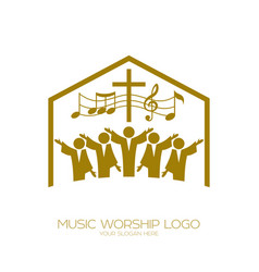 The church of god sings vector