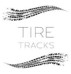 Tire tracks waving vector