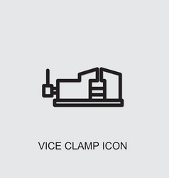 Vice clamp icon vector