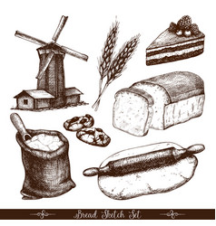 Vintage bakery vector