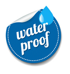 Water proof sticker isolated white background vector