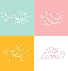 Wedding hand-lettering vector image