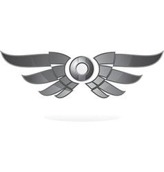 Winged emblem vector