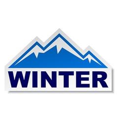 winter mountain sticker vector image