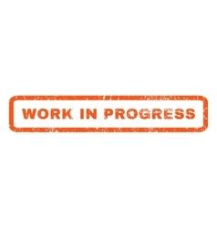 Work In Progress Rubber Stamp vector