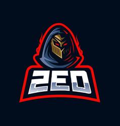 Zed e-sport mascot logo design vector