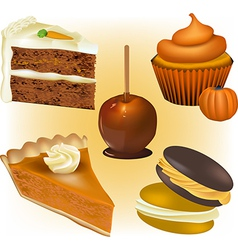 Cake and Pastry vector image vector image