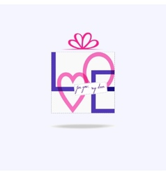 Love gift vector image vector image