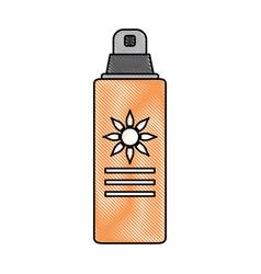 spray sunscreen protection vector image