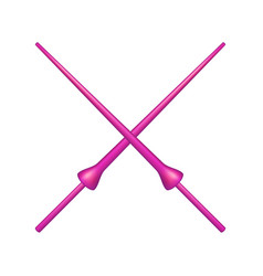 two crossed lances in pink design vector image vector image