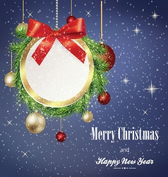 Christmas banner with frame vector image