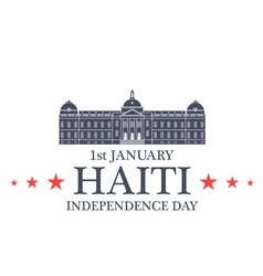 Independence Day Haiti vector image