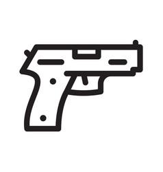 pistol gun icon on the white vector image