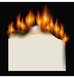 burning paper sheet vector image