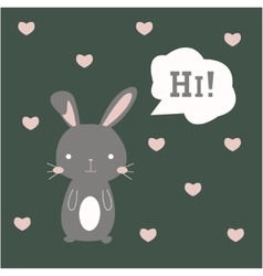 Cute bunny vector